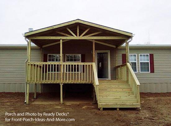 8  gabled porch on manufactured home