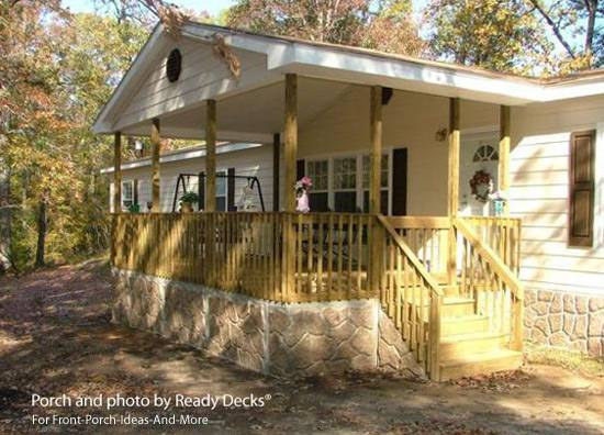 Porch Design Ideas this is an example of a mid sized rustic screened in back porch design 9 Simple Manufactured Home Porch