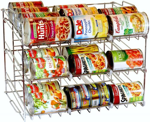 canned food storage system - smart storage solutions for small homes