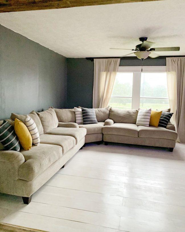 Affordable DIY Farmhouse Style Plywood Flooring - finished