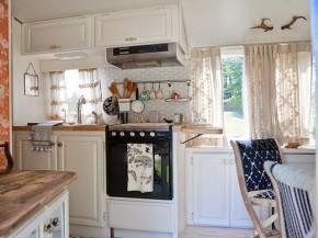 Airstream kitchen area