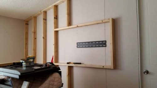 Amazing 2007 Fleetwood manufactured home makeover (living room TV installation)