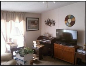 Amazing 2007 Fleetwood manufactured home makeover (living room before)