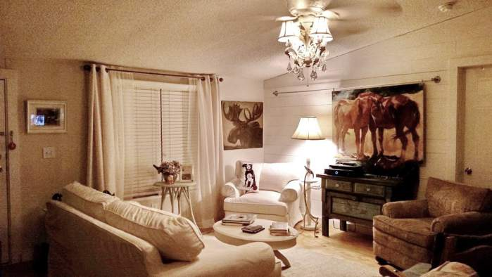Amazing 2007 Fleetwood manufactured home makeover (amazing living room after makeover)