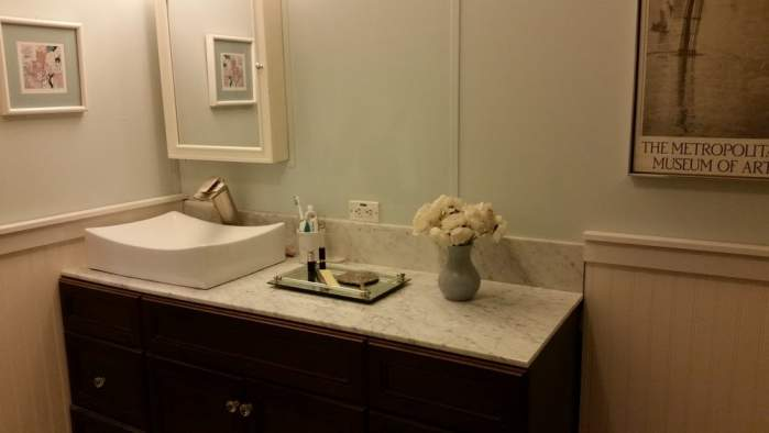 Amazing 2007 Fleetwood manufactured home makeover (master bathroom after 2)