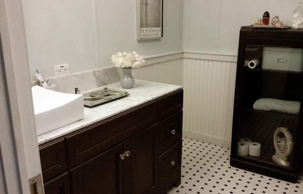 Amazing 2007 Fleetwood manufactured home makeover (master bathroom after)