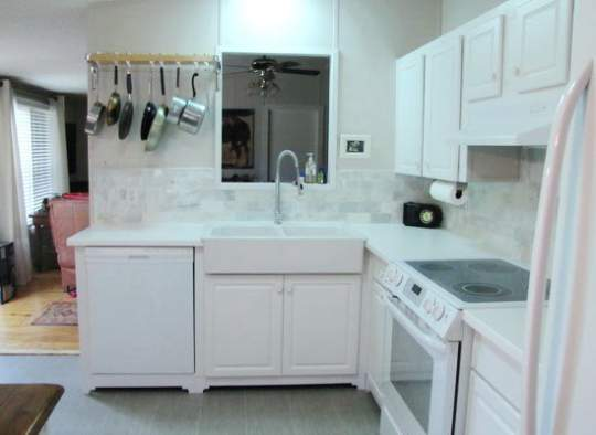 Amazing 2007 Fleetwood manufactured home makeover (kitchen after)