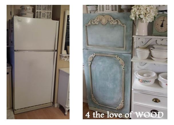 Amazing-mobile-home-painting-a-fridge-with-chalk-paint-before-and-after