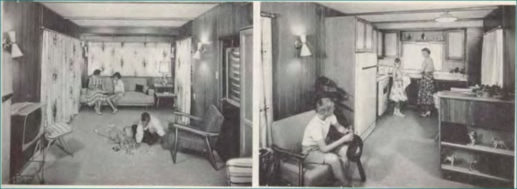 American Pioneer Mobile Home Front Kitchen, 1959