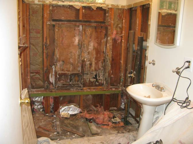 Bathroom 1 - Tub removed