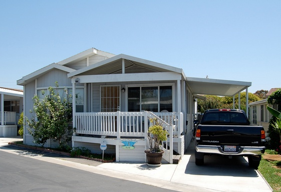 30 Great Mobile Home Exterior Ideas(14)
