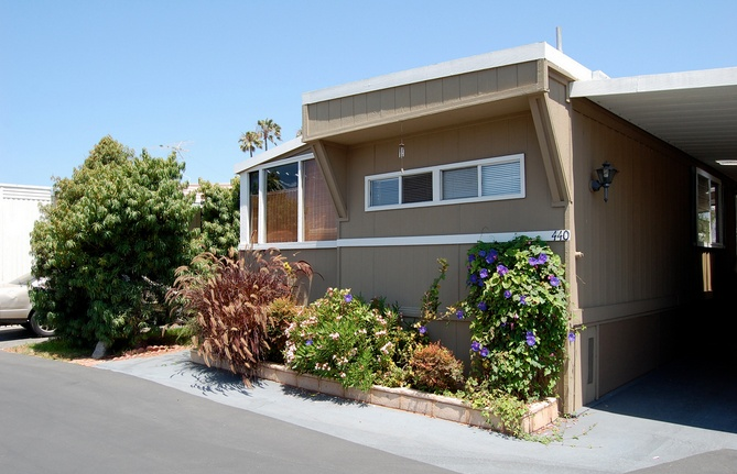30 Great Mobile Home Exterior Ideas(20)