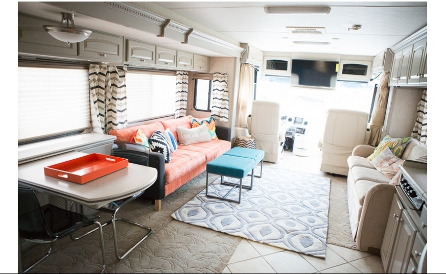 Rv Chairs Recliners >> Colorful RV Makeover