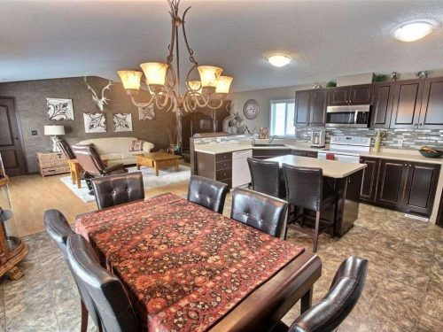 Canadian Mobile Home - 20 foot wide single section homes - Living room, dining room, and kitchen in open floor layout