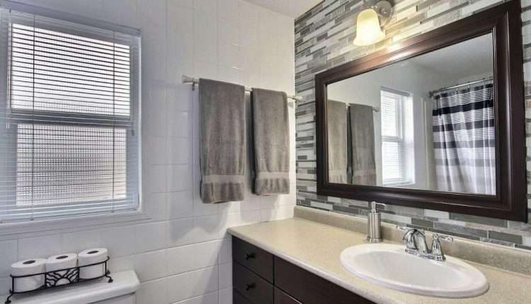 Canadian Mobile Home - 20 foot wide single section homes - Stylish bathroom in modern mobile home