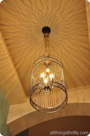Birdcage chandelier DIY tutorial