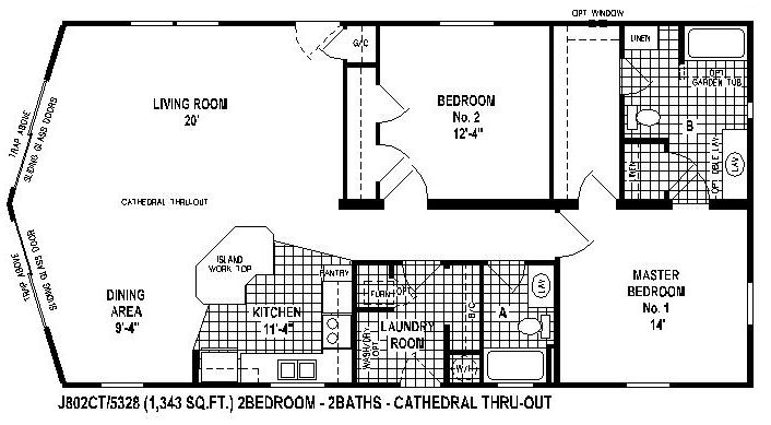 manufactured home floor plans-Brookstone double wide - skyline homes - floor plans