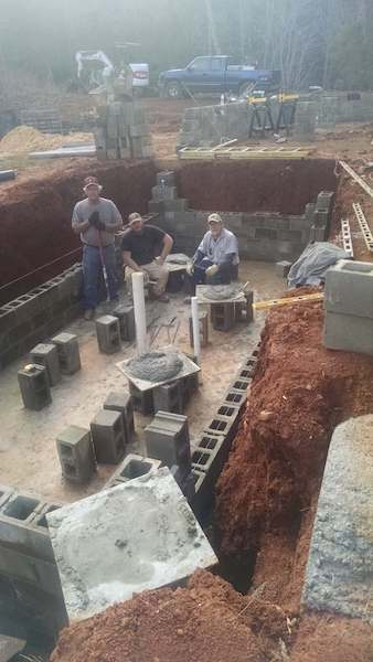 Building a Two-Story Addition onto a Manufactured Home - building the basement and side walls