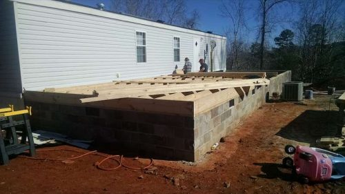 Building a two-story addition onto a manufactured home- flooring the addition