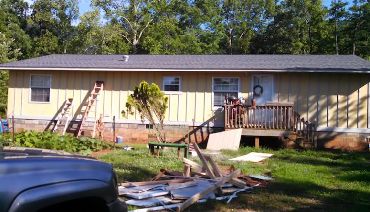 Building a two-story addition onto a manufactured home - exterior after