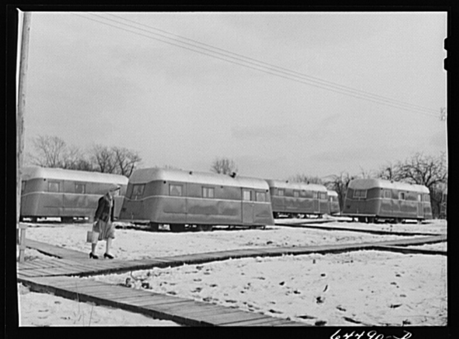 Burlington Iowa Acres mobile home park for WWII Feb 1942