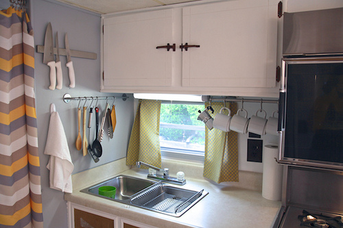 Camper Renovation - After - Sink Area