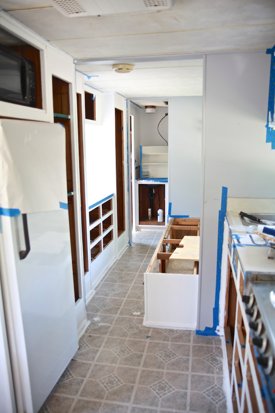 Camper Renovation - Painting the interior