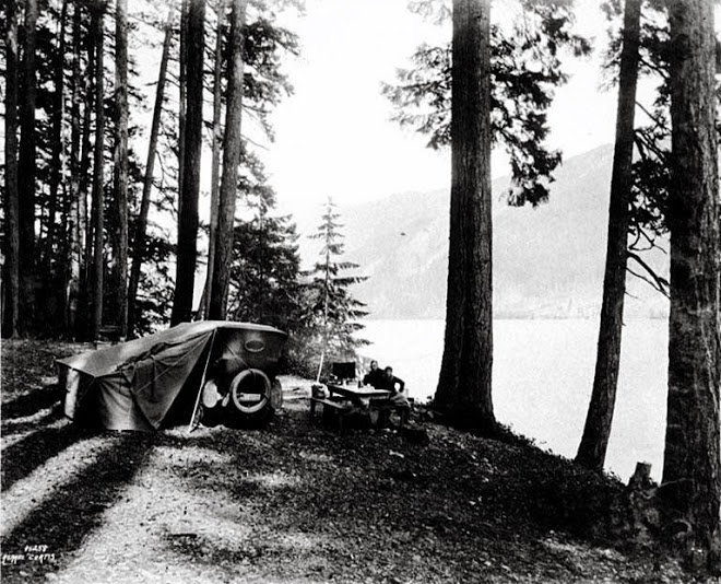 Camping Hood Canal, Olympic Peninsula 1920