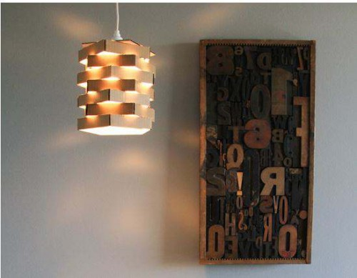 Cardboard light DIY project
