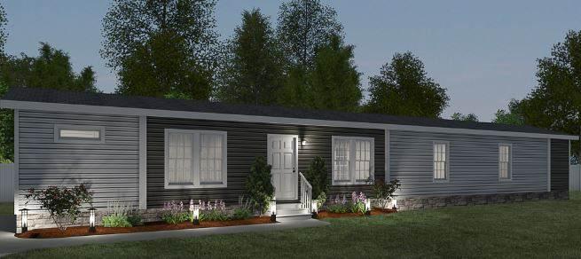 Fancy Cavalier Manufactured Home Floor Plan Exterior Render