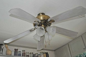 Ceiling Fan Face Lift - updating a ceiling fan on a budget - After