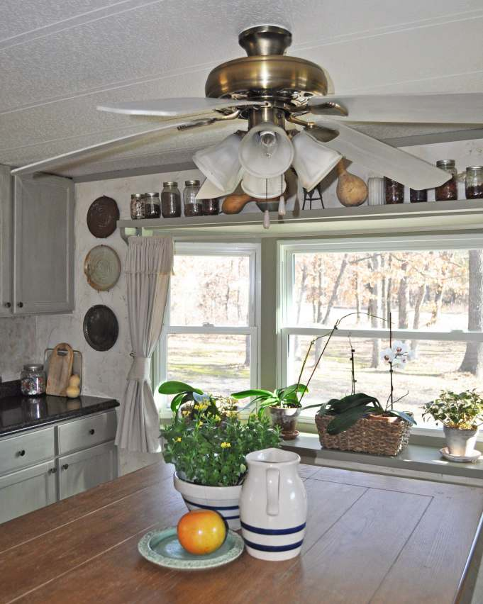Ceiling Fan Face Lift - updating a ceiling fan on a budget - After Project - Kitchen