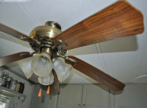 Ceiling Fan Face Lift - updating a ceiling fan on a budget - Before