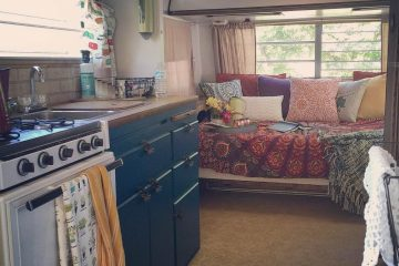 Chantal's Colorful Camper Makeover (interior)