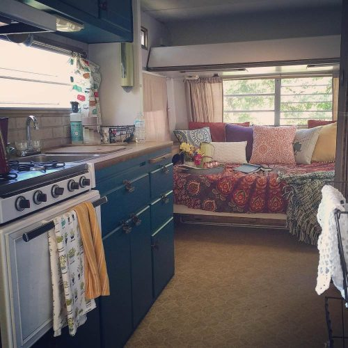 Chantal S Colorful Camper Makeover A Teal Delight