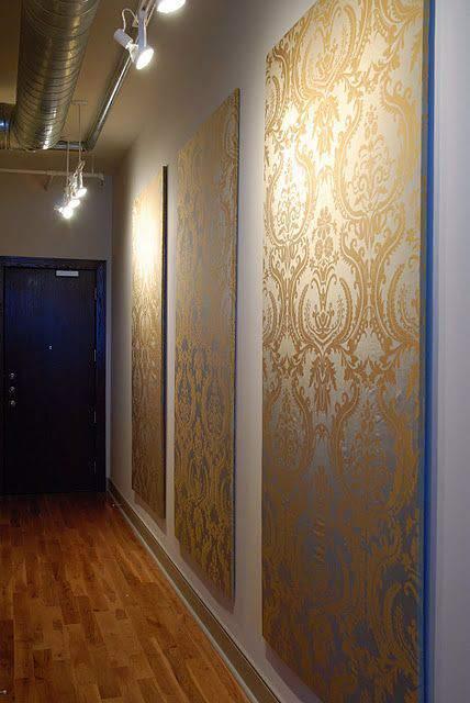 cheap-wall-art-ideas-wallpaper-or-fabric-on-board