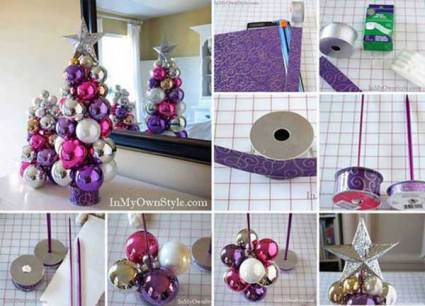 christmas decor ideas on a budget diy ornament tree - Diy Christmas Decorations Ideas