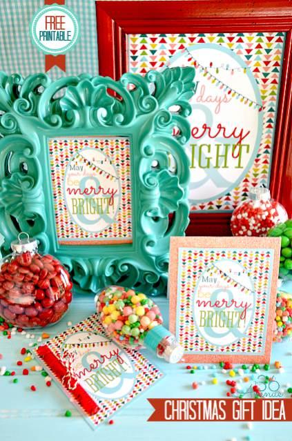 Christmas printables framed christmas art christmas in a mobile