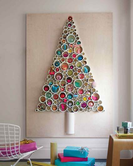 Christmas Tree Wall Decor made from Plumbers pipe