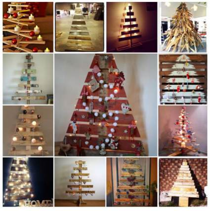 chritmas trees made from pallets cheap diy christmas decor - Pallet Christmas Decoration Ideas