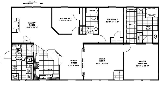 Clayton Homes Floor plan for double wide 10 great manufactured home floor plans Mobile Home Wiring Problems at webbmarketing.co