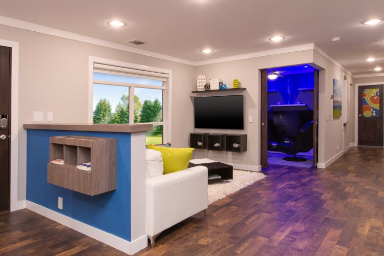 Clayton's Gen-Now Concept Home-Clayton_The-Home-of-Tomorrow_Living room with office view