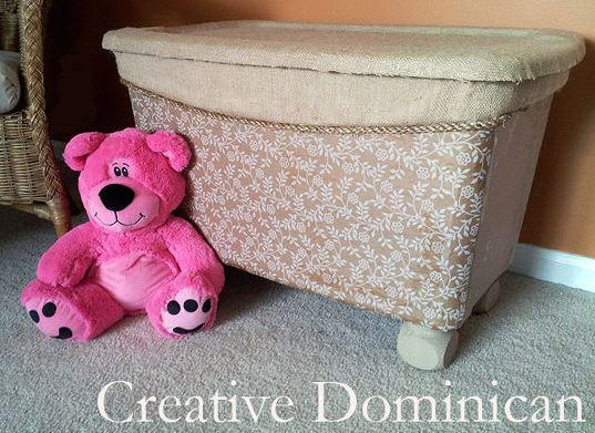 Clever Storage Ideas for your Mobile Home - turn plastic storage bin into something pretty