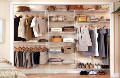 Great Clever Storage Ideas For Your Mobile Home   White Wire Closet Organization  Systems