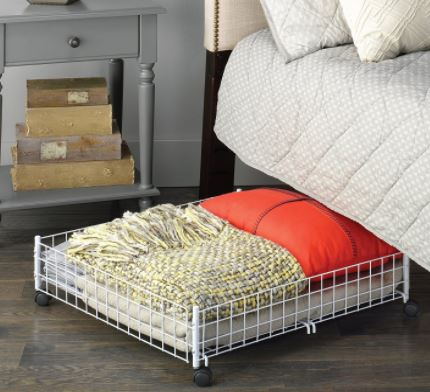 Unique Clever Storage Ideas for your Mobile Home wire storage bin under the bed