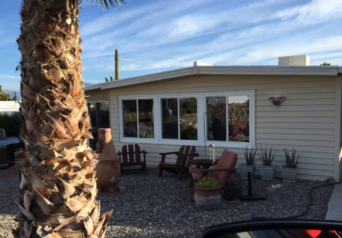 Cool Double Wide Decor in Arizona (exterior)