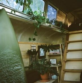 vintage buses-Cosmic Collider Vintage Bus Remodel - Stairs - 2nd Story