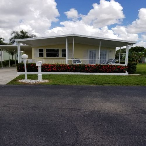$45,000 manufactured home renovation - exterior after