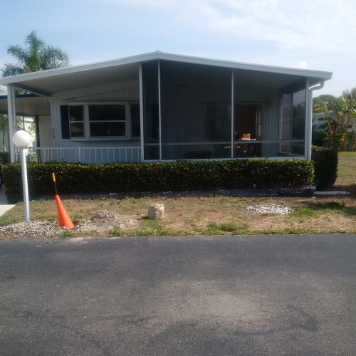 $45,000 manufactured home renovation - exterior before