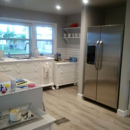 $45,000 manufactured home renovation - kitchen after